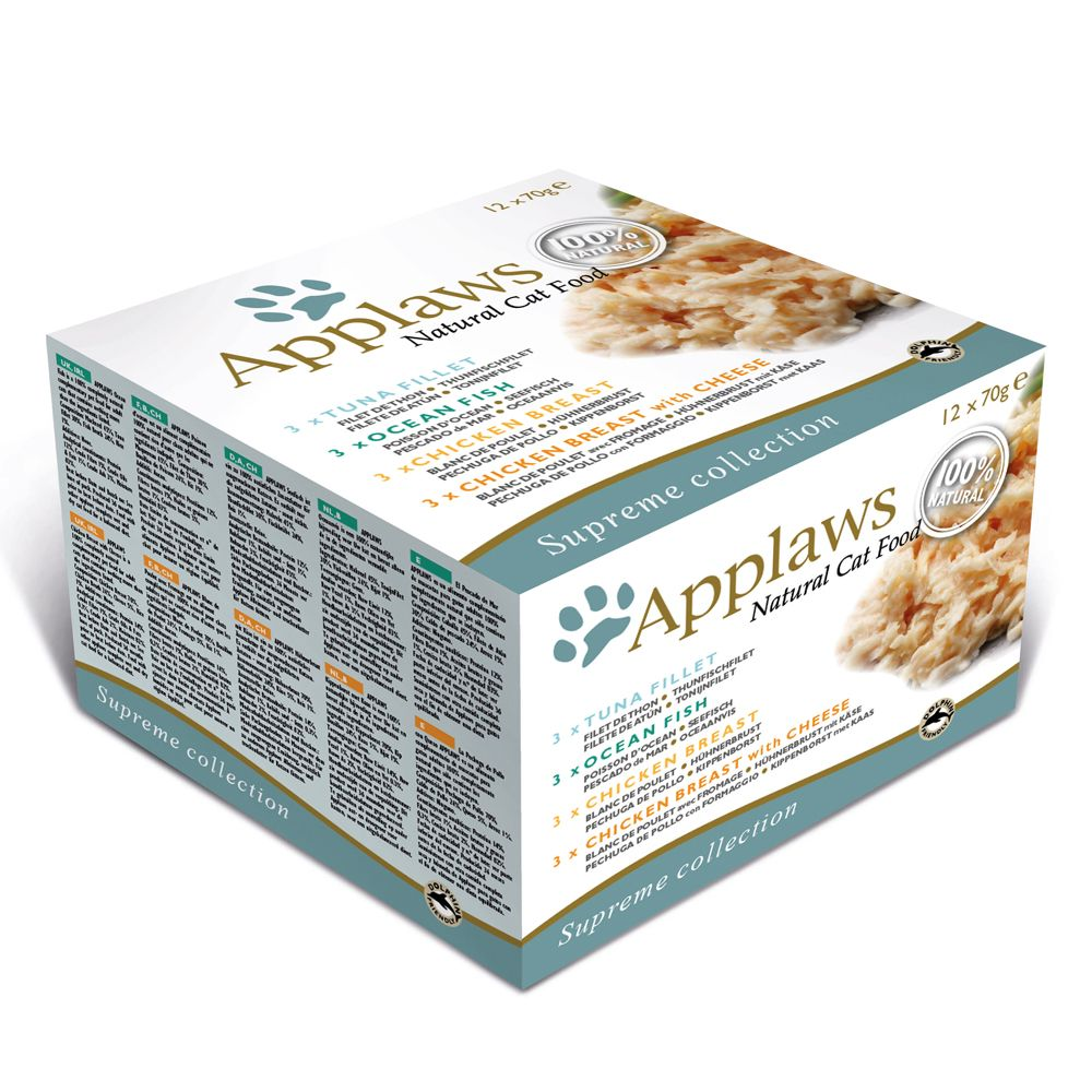 Applaws Cat Cans Mixed Multipacks 70g - Fish Collection 12 x 70g