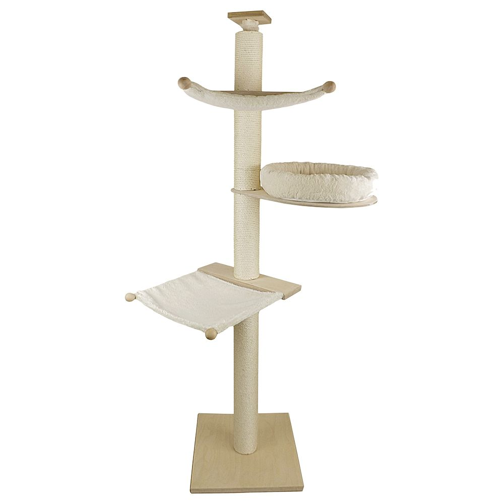 Paula Pet Fun Cat Tree - Natural White