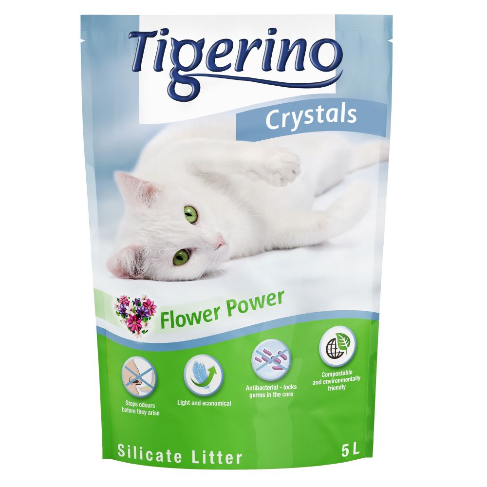 Tigerino Crystals Flower Power Cat Litter - 5 litre