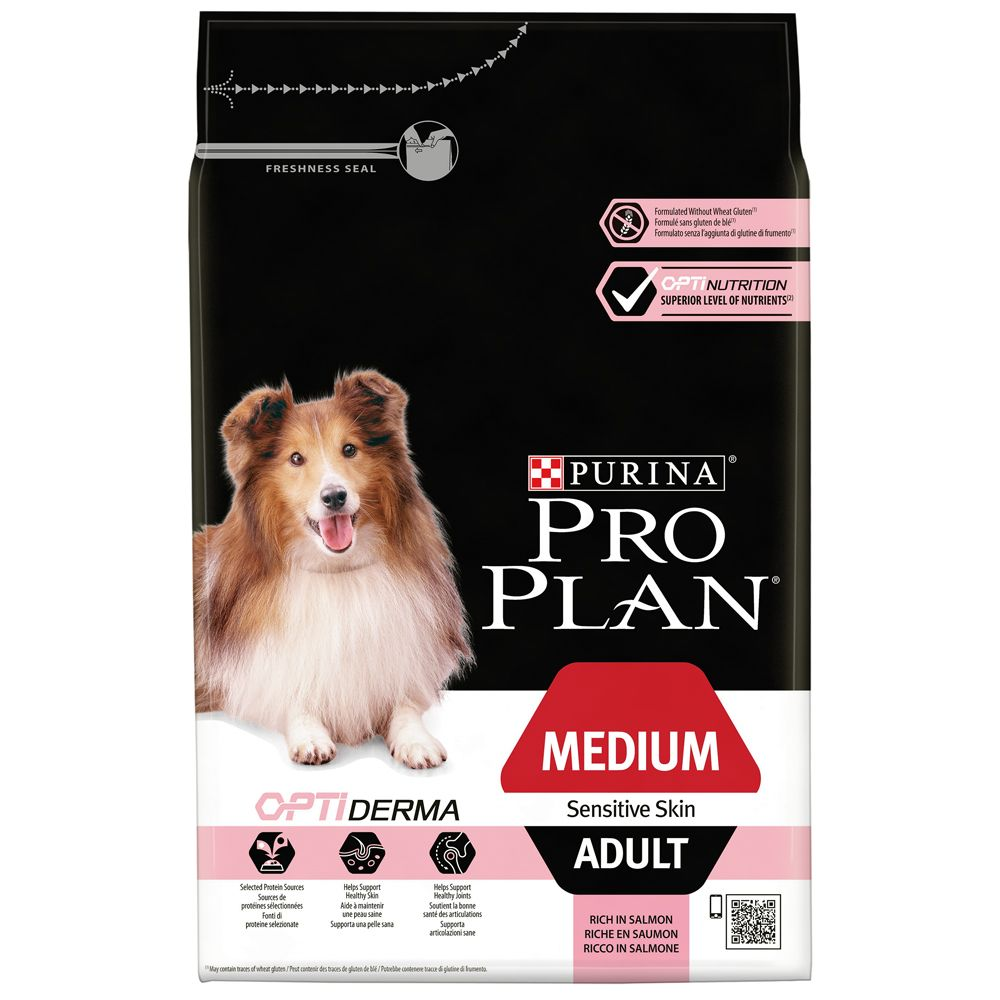 Pro Plan Adult Medium Sensitive Skin OptiDerma - Salmon - 14kg