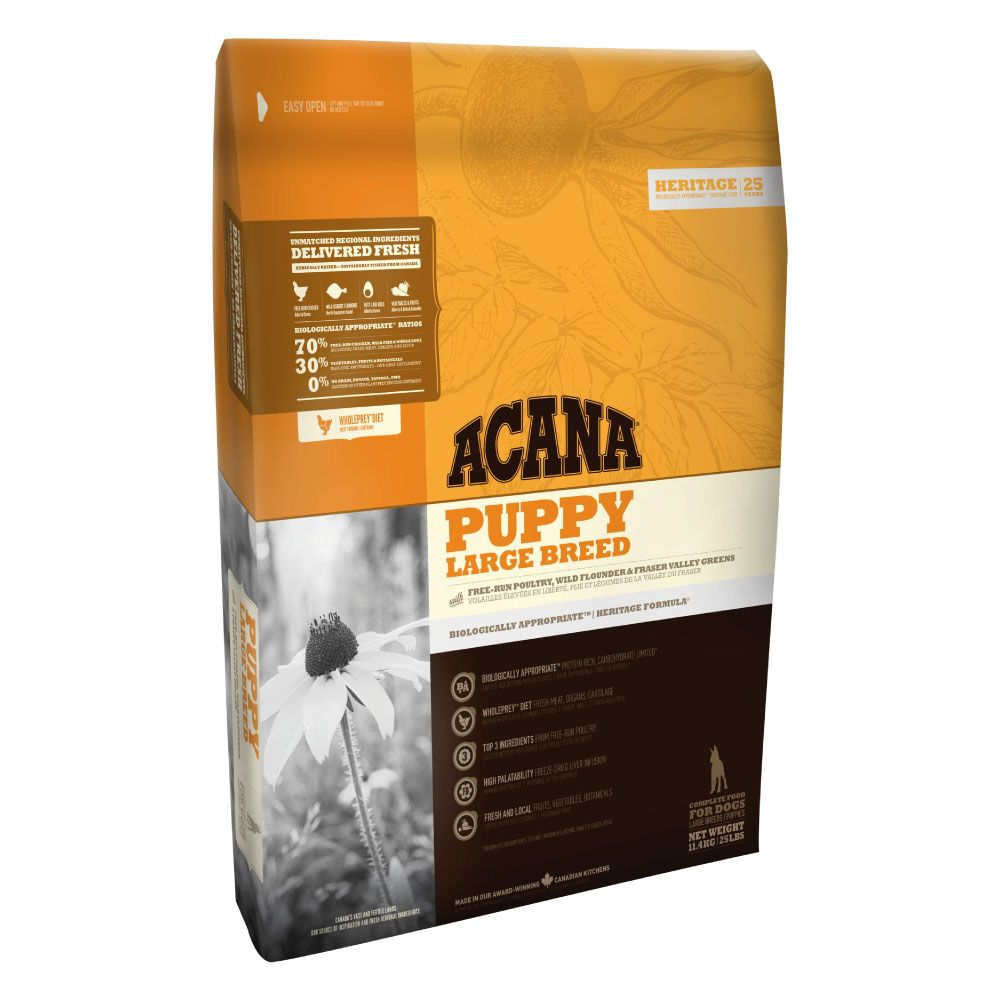 Acana Puppy Large Breed Dry Dog Food - Economy Pack: 2 x 11.4kg