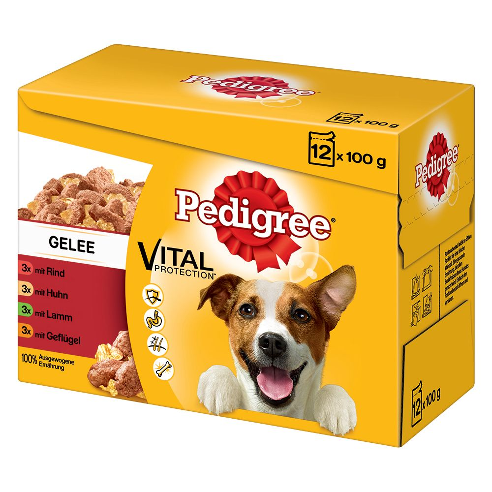 100g Pedigree Wet Dog Food Pouches - 10 + 2 Free!* - In Gravy Multipack (12 x 100g)