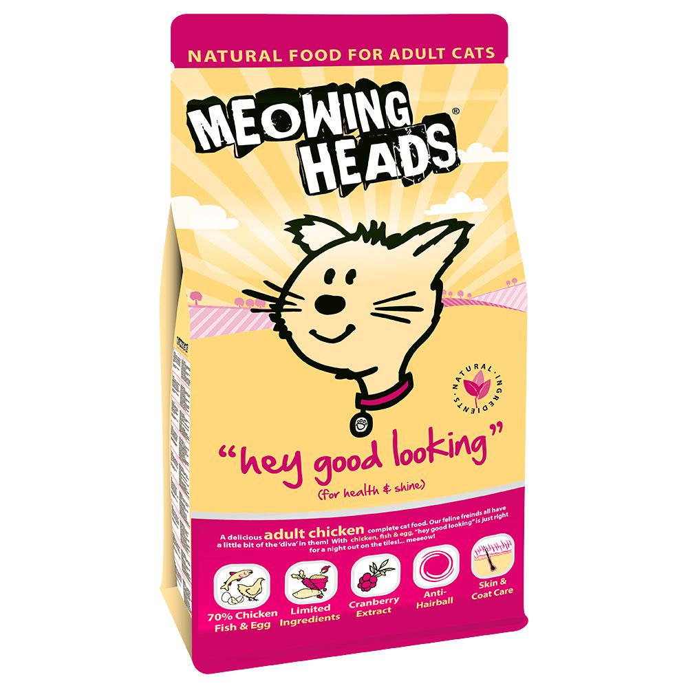 Meowing Heads Dry Cat Food Economy Packs - Mixed Pack: So-fish-ticated Salmon & Paw Lickin