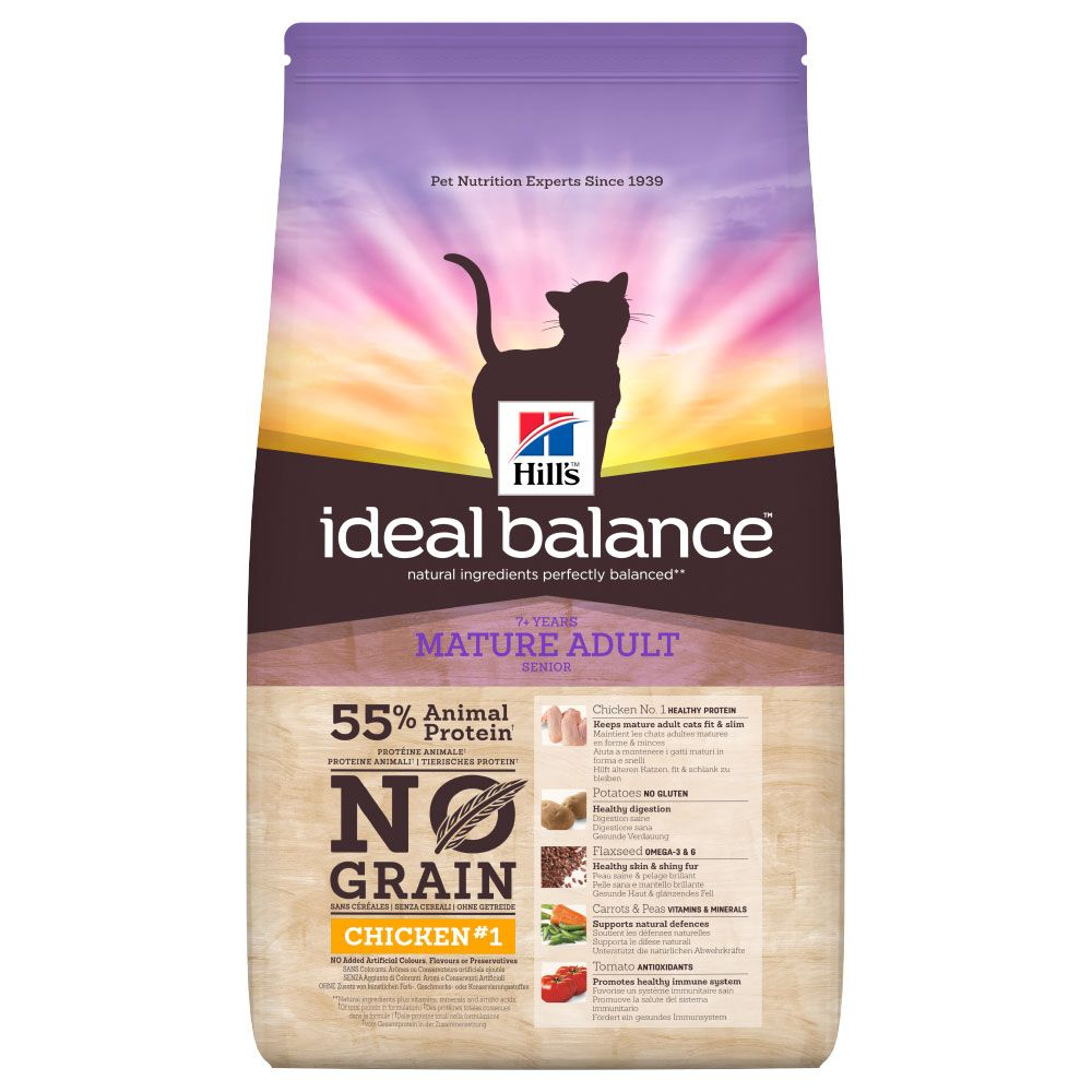 Hill?s Ideal Balance Feline Mature No Grain ? Chicken & Potato - 1.5kg