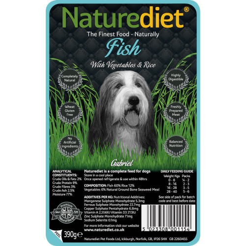 Naturediet Fish Vegetables & Rice Dog Food