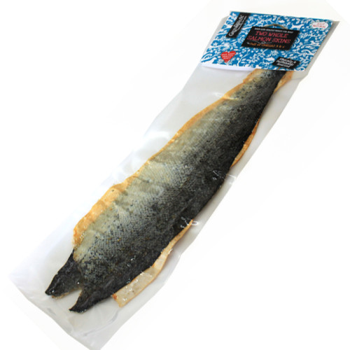 Green & Wilds Two Whole Salmon Skins Dog Treat