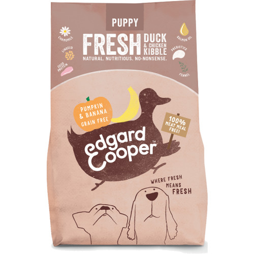 Edgard & Cooper Fresh Duck & Chicken With Pumpkin & Banana Puppy Food