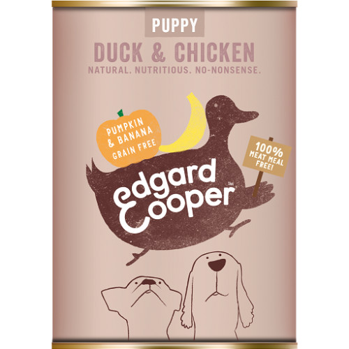 Edgard & Cooper Duck & Chicken With Pumpkin & Banana Wet Puppy Food