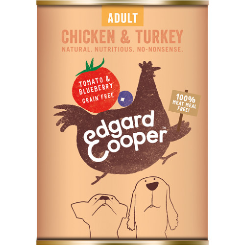 Edgard & Cooper Chicken & Turkey With Tomato & Blueberry Wet Adult Dog Food