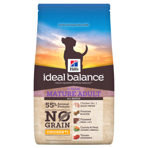 Hills Ideal Balance No Grain Chicken & Potato Mature Adult Dry Dog Food