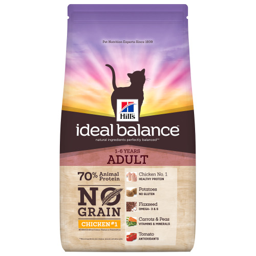 Hills Ideal Balance No Grain Chicken & Potato Adult Dry Cat Food