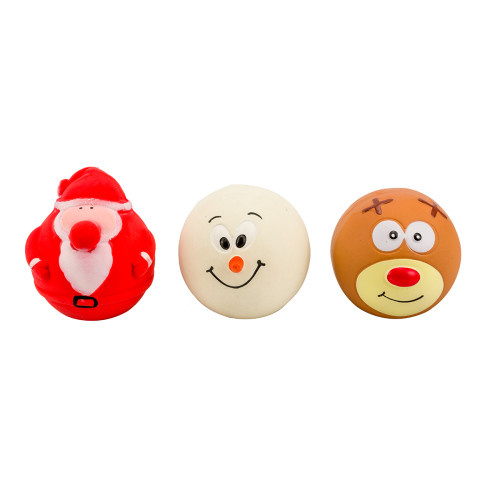 Armitage Faceball Assortment Christmas Dog Toy