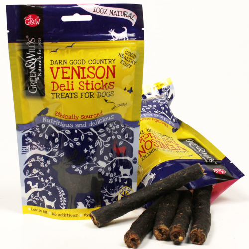 Green & Wilds Venison Deli Sticks Dog Treats