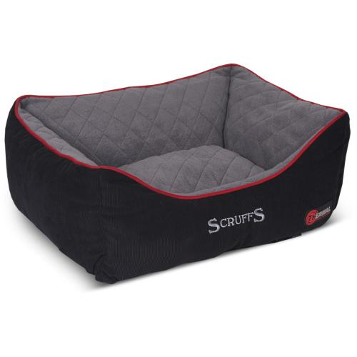Scruffs Thermal Box Dog Bed In Black