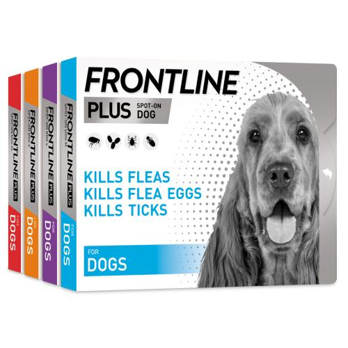 Frontline Plus Flea & Tick Treatment Dog