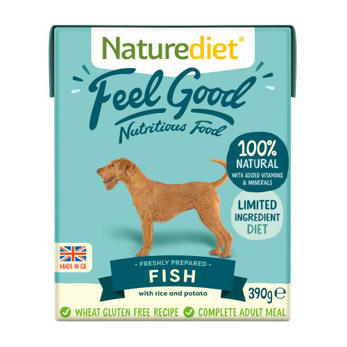 Naturediet Feel Good Fish Adult Wet Dog Food Cartons