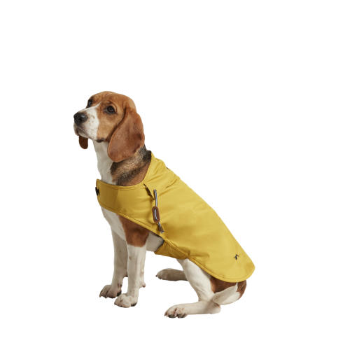 Joules Water-resistant Dog Raincoat In Mustard