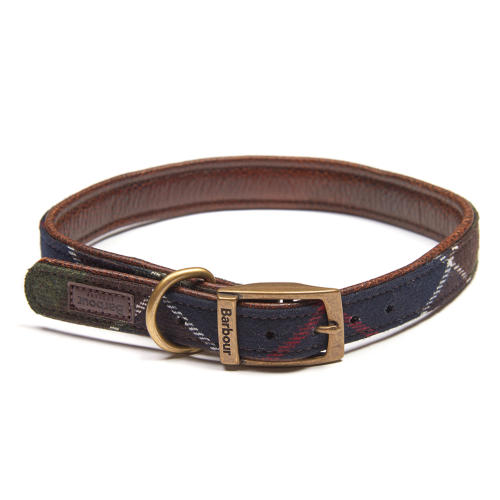 Barbour Wool Touch Tartan Dog Collar