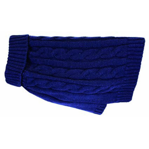 Buster & Beau Charlton Cable Knit Midnight Blue Dog Jumper