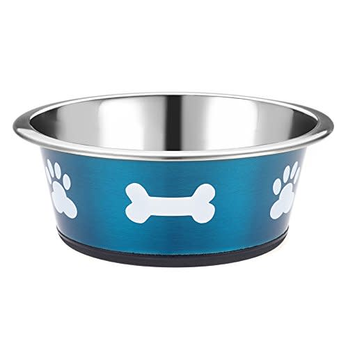 Classic Posh Paws Stainless Steel Dog Bowl