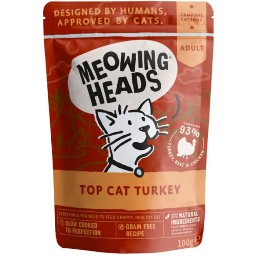 Meowing Heads Top Cat Turkey Wet Cat Food